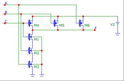 Схема элемента 3И-НЕ