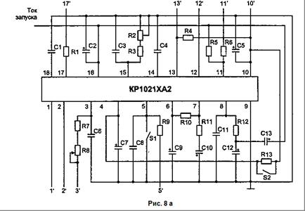 Схема включения КР1021ХА2: