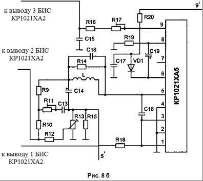 Схема включения КР1021ХА5А:
