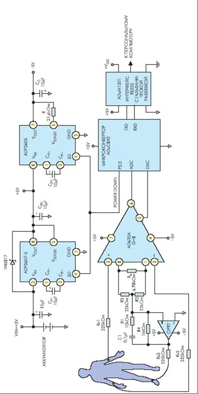 схема электрокардиографа.